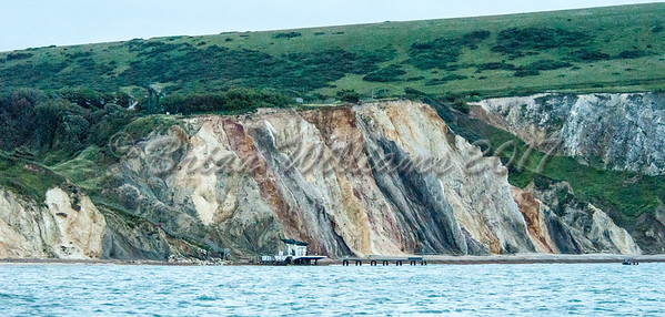 The coloured sands of  Alum Bay