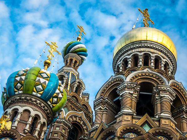 North-side Domes, Church of Our Savior on Spilled Blood, St. Petersburg, Russia