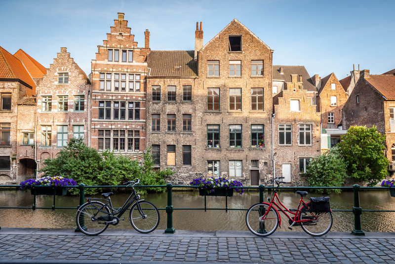 Canalside Parking, Ghent, Belgium