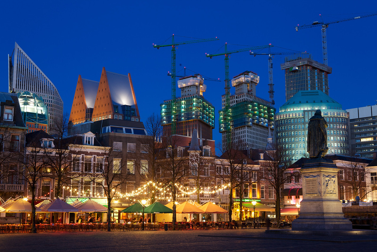 The Hague Skyline at Dusk