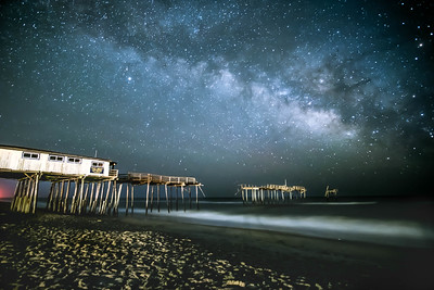 the milky way and the frisco pier