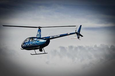 Titans of Mavericks helicopter