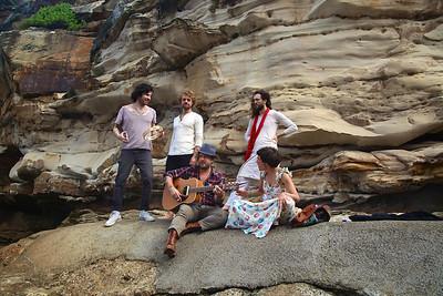 Edward Sharpe in Australia filming music video for Home