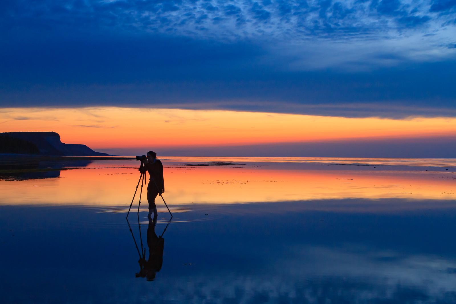 Séance photo à l'Anse de la Sauvagesse, rive Nord d'Anticosti