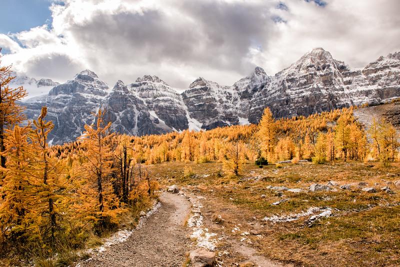 A Golden View of the Ten Peaks