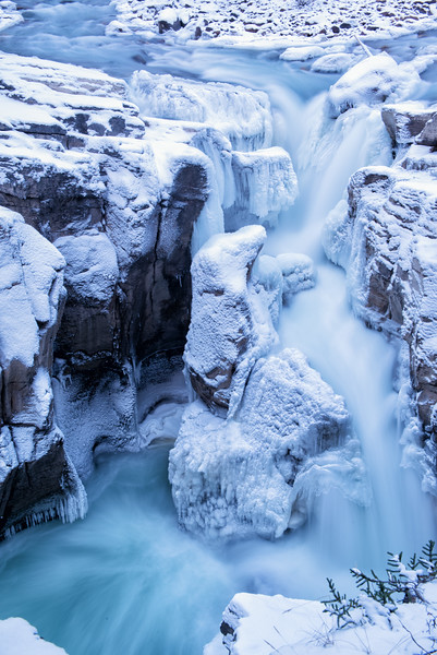 Blue Hour Waterfall