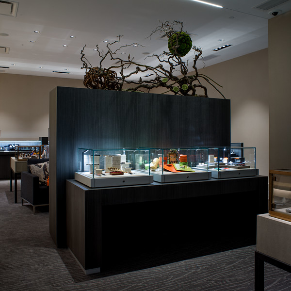 Interior view of Mann's Jewelers. Photo by Brandon Vick Photography LLC, http://brandonvickphoto.com/
