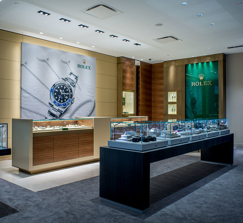 Interior view of Mann's Jewelers. Photo by Brandon Vick Photography LLC, http://brandonvickphoto.com/