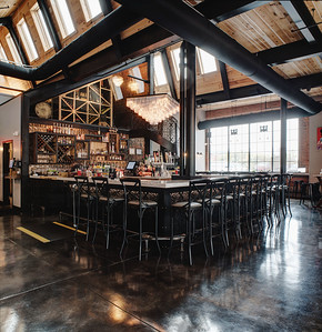 Interior view of Nosh restaurant, Rochester, NY. Photo by Brandon Vick, http://www.brandonvickphotography.com/