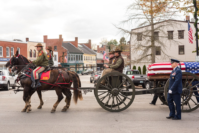 Military Funeral Memorial Procession for Medal of Honor Recipient Thomas Hudner
