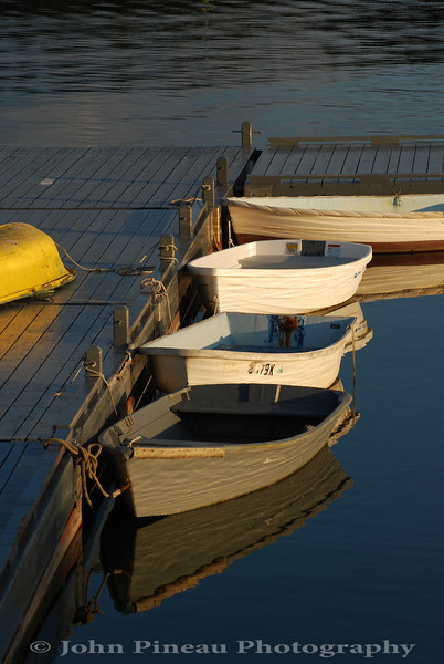 Docked Dingys - Tentant's Harbor, Maine