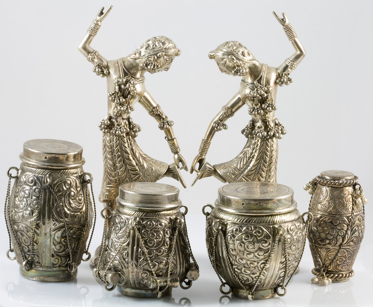 Dancing Dolls and Drums Representing Classical Indian Dance and Music