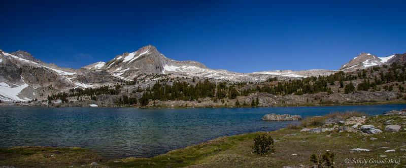 panorama of a glacial lake