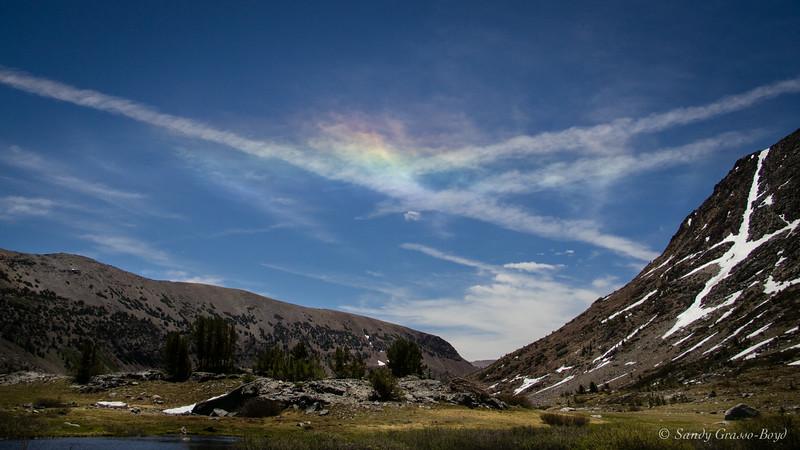 sky art at saddlebag lake