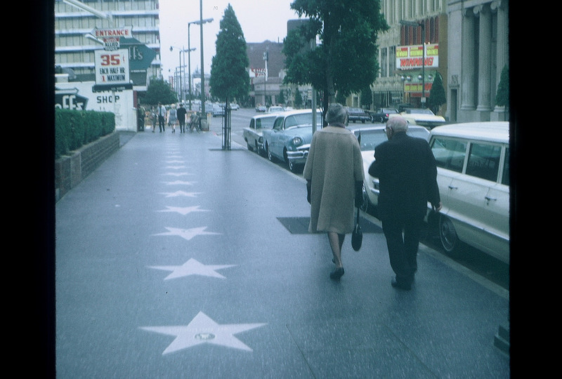 Hollywood Boulevard's Walk of Fame.  Los Angeles, CA.