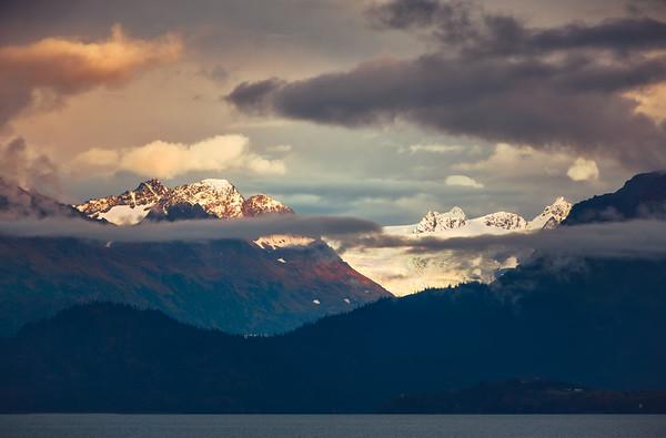 Last Light On The Glacier