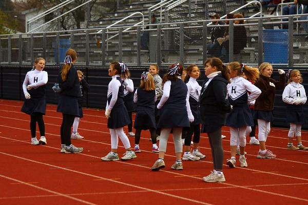 youth football cheerleaders