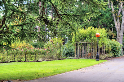 House Grounds In Old Part Of Town, Victoria, BC, Canada