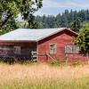 Red Outbuilding - Metchosin, Vancouver Island, British Columbia, Canada