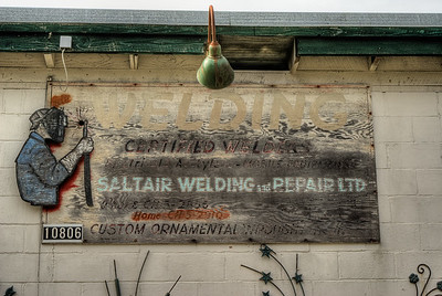 "Saltair Welding & Repair Ltd. - Vancouver Island BC Canada Please visit our blog ""No Ornaments In The Swamp"" for the story behind the photo."