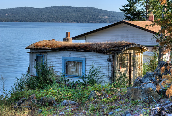 Weathered Garage - Mill Bay, BC, Canada