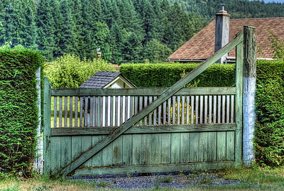 """Gate - Cowichan Valley, BC, Canada Visit our blog """"Gnome Home"""" for the story behind the photo."""