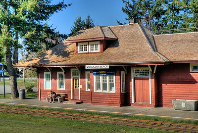 """Qualicum Beach Train Station - Qualicum, BC, Canada Visit our blog """"Waiting On A Train"""" for the story behind the photos."""