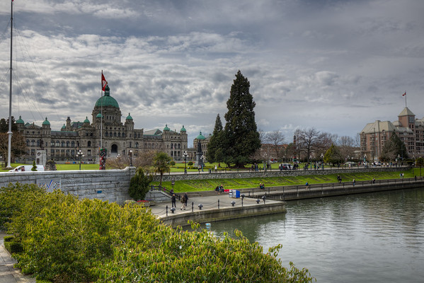 British Columbia Parliament Buildings of Victoria, Vancouver Island, BC, Canada
