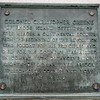 Plaque on the Red Bank Battle monument