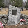 This boulder and plaque commemorates the Rev War soldiers who lie in unmarked graves in the cemetery.