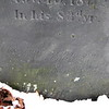 Lower part of the inscription