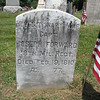 Close up of the Rev War gravemarker