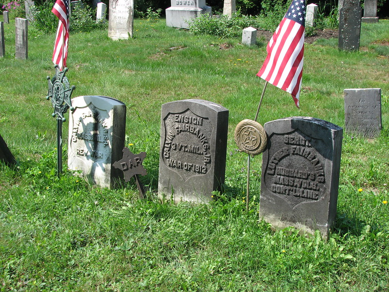 The row of family graves is located in the front row, just to the right of center in the cemetery. Luther's stone is on the right.