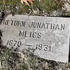 Gravestone of Return Jonathan Meigs 8th, MD, within the family plot