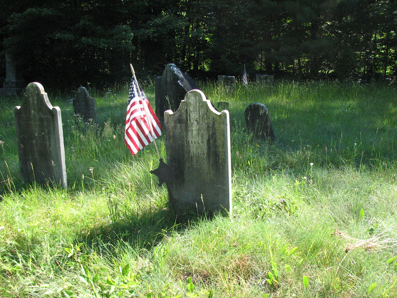 Scott's grave is located about in the center of the cemetery