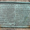 """Plaque on the monument. Hendricks would be included in the """"certain of his soldiers."""""""