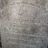 """Close up of her inscription, including the words """"Wife of Dea. William Humphrey"""""""