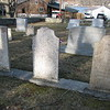 Humphrey's gravestone is the middle one, with his wife's to the right.