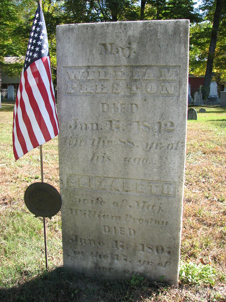 Preston's gravestone