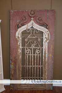Antique wooden door from Egypt.