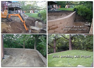 2002 Back yard retaining wall addition