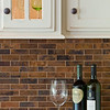 Copper tile backsplash