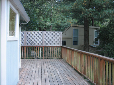 Half of back deck