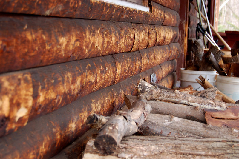 Wood Pile on Porch, Claremont, NH