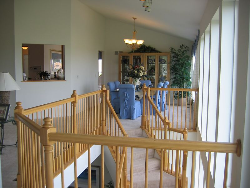 Atrium Staircase from Master Bedroom Door