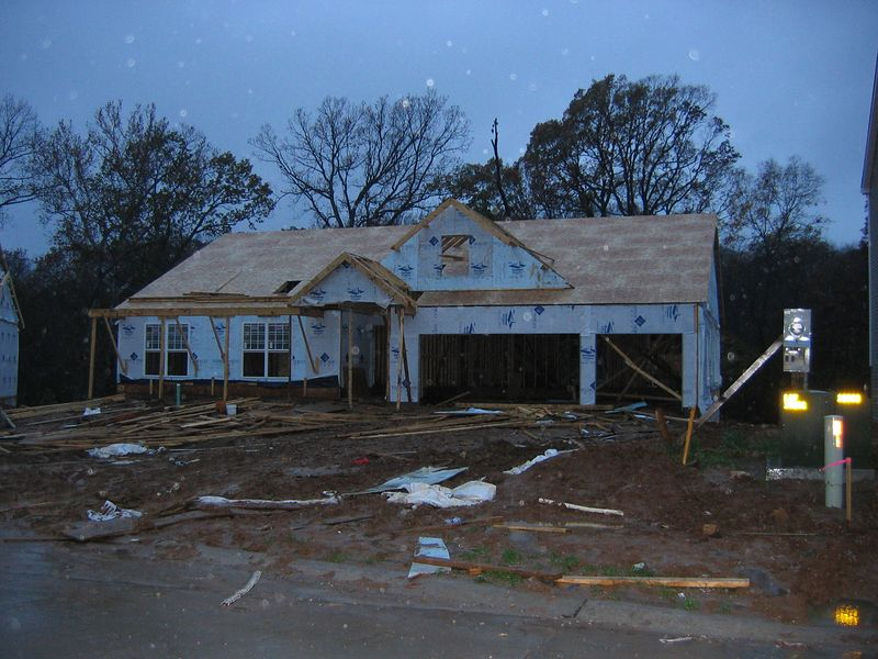 Plywood Installed on Roof<BR> November 3