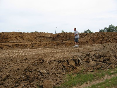 Rear View of the Foundation Dug September 18