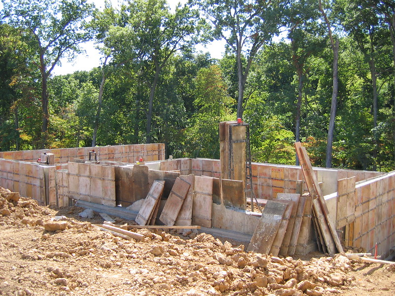 Front View of the Foundation Forms<BR>