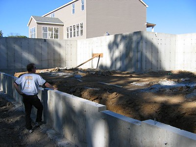 Rear View of the Poured Foundation October 3