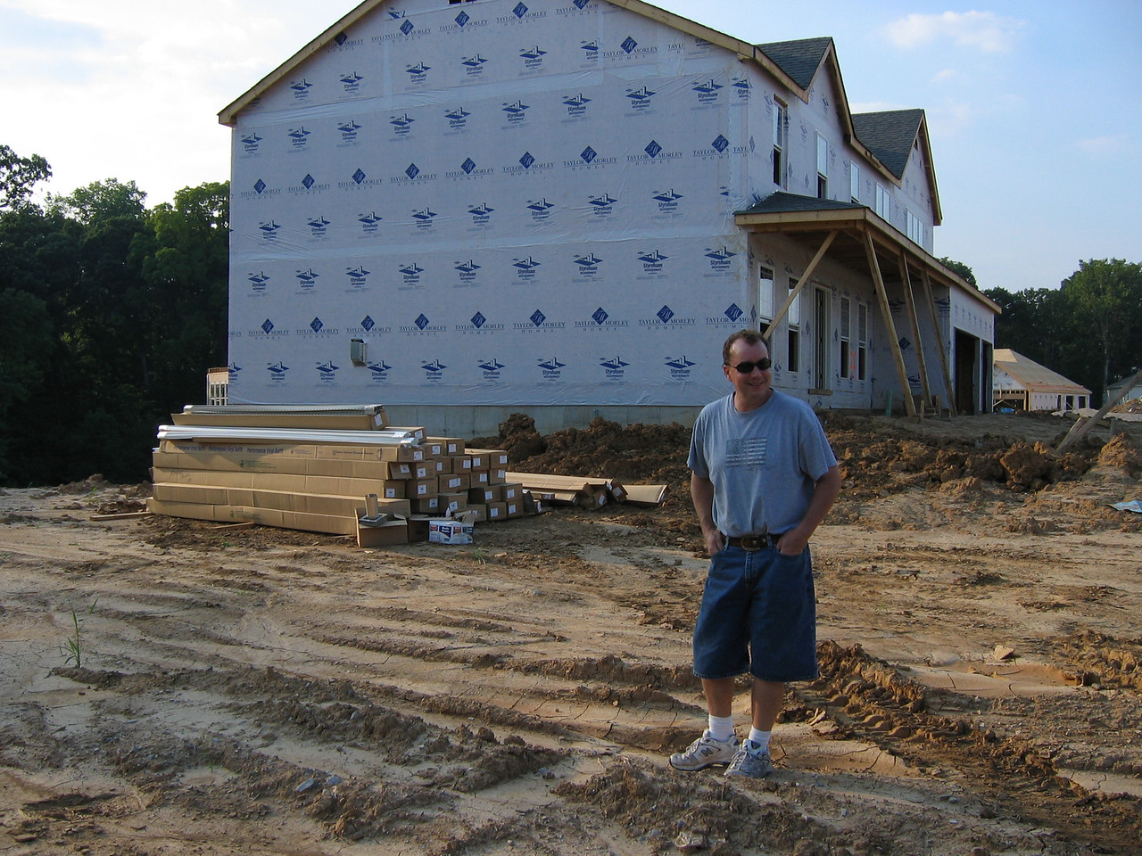 View of Neighbor's House on Right September 04
